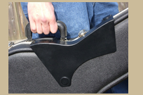 Standing Ovation Guitar Accessory attaches to case for storage and travel.